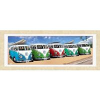 VW Californian Camper Campers Beach - 30 x 12 Framed Photographic