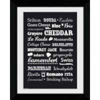 Cheese Types - Collector Print - 30 x 40cm