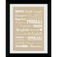 Pasta Types - Collector Print - 30 x 40cm