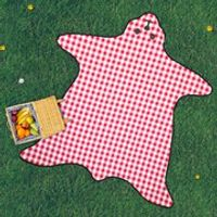 Bear Skin Picnic Blanket - Red