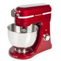 Morphy Richards 400007 Professional Diecast Stand Mixer with Guard - Red (800w)
