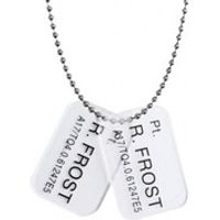 Hollywood Collectibles Aliens Colonial Marine Pt. R. Frost Dog Tags