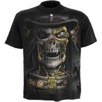 Spiral Mens STEAM PUNK REAPER T-Shirt - Black - XXL - Black