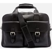 Aspinal of London Mens Harrison Overnight Business Bag - Black