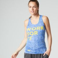Myprotein Womens Burnout Vest, Blue, 6