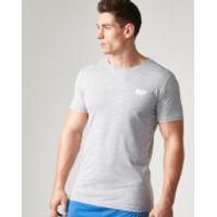 Myprotein Mens Longline Short Sleeve T-Shirt, Grey Marl, XXL