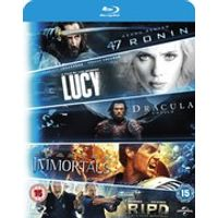 Blu-ray Starter Pack - Includues Lucy, Dracula Untold, 47 Ronin, Immortals, R.I.P.D