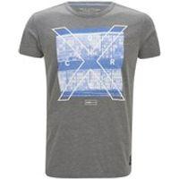 Jack & Jones Mens Square Short Sleeve Crew Neck T-Shirt - Grey Melange - M