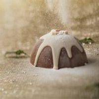 Chocolate Christmas Pudding with Gold Sixpence