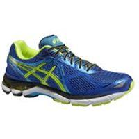 Asics Mens GT-2000 3 Structured Cushioning Running Shoes - Blue/Flash Yellow/Atomic Blue - UK 10.5 - Damaged Packaging