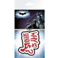 DC Comics Batman The Dark Knight Joker Why So Serious - Keyring