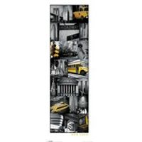 New York Collage - 12 x 36 Inches Midi Poster
