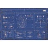Star Wars Rebel Alliance Fleet Blueprint - 24 x 36 Inches Maxi Poster
