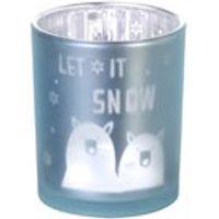 Parlane Let It Snow Tea Light Holder - White