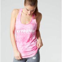 Myprotein Womens Tie Dye Stringer Vest, Blue, S/UK 8