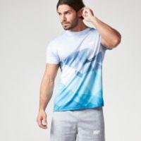 Myprotein Mens Geometric Printed Training Shirt, Light Blue, L