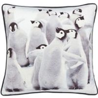 Catherine Lansfield Filled Penguin Cushion - Multi