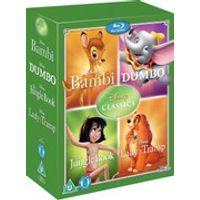 Disney Classics Timeless Classics 4 BD Set 2 Jungle Book, Bambi, Dumbo, Lady & The Tramp