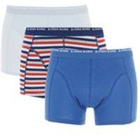 Bjorn Borg Mens 3 Pack Stripes Boxer Shorts - Estate Blue - S
