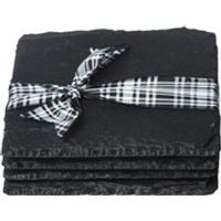 Just Slate Square Coasters in Gift Box - Set of 4