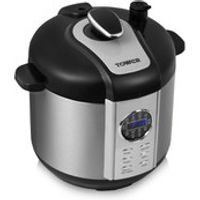 Tower T16005 6L Digital Pressure Cooker - Silver
