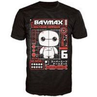 Disney Big Hero 6 Baymax Pop! T-Shirt - Black - M