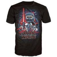 Star Wars The Force Awakens Poster Pop! T-Shirt - Black - L