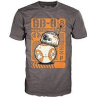 Star Wars The Force Awakens BB-8 Type Poster Pop! T-Shirt - Grey - L
