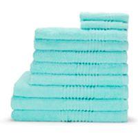 Highams 100% Egyptian Cotton 10 Piece Towel Bale (550gsm) - Aqua