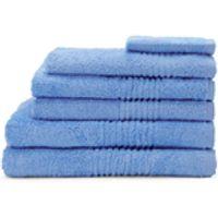 Highams 100% Egyptian Cotton 6 Piece Towel Bale (550gsm) - Blue