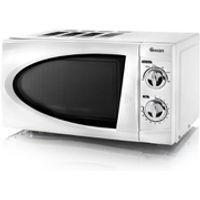 Swan SM3090N Manual Microwave - White - 800W