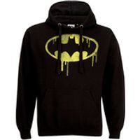 DC Comics Mens Batman Dripping Logo Hoody - Black - L