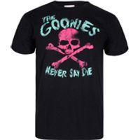 The Goonies Mens Skull T-Shirt - Black - S