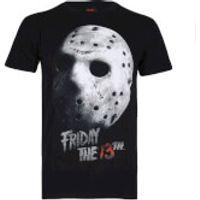 Friday the 13th Mens Jason Mask T-Shirt - Black - S
