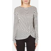 MINKPINK Womens Manhattan Long Sleeve Stripe Top - Black/White - XS