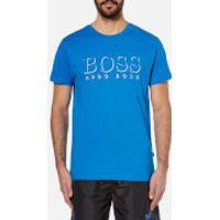 BOSS Hugo Boss Mens Large Logo T-Shirt - Blue - L