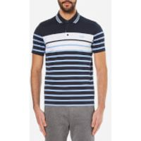 BOSS Green Mens Paule 3 Striped Polo Shirt - Navy - M