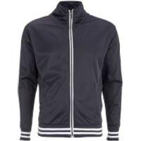 Brave Soul Mens Vintage Zip Through Tricot Jacket - Navy - S