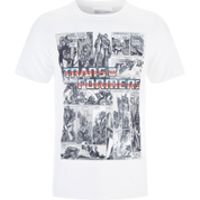 Transformers Mens Comic Strip T-Shirt - White - XXL