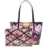 Ted Baker Womens Doloris Lost Gardens Small Leather Shopper Bag - Black