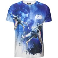 Star Wars: Rogue One Mens X-Wing Sublimation T-Shirt - White - XXL