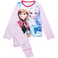 Disney Girls Frozen Graphic Print Pyjamas - Lilac - 9-10 years