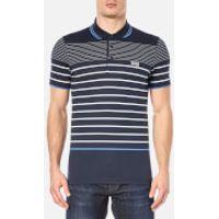 BOSS Green Mens Paule 2 Stripe Polo Shirt - Navy - S