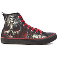 Spiral Mens Death Bones High Top Lace Up Sneakers - Black - UK 8
