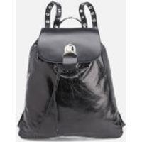 MM6 Maison Margiela Womens Backpack with Popper Detail - Black