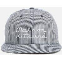 Maison Kitsun Mens Baseball Cap Striped Hat - Navy Stripe