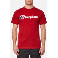 Berghaus Mens Block Logo 1 T-Shirt - Haute Red - M