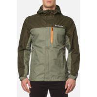 Columbia Mens Pouring Adventure Waterproof Jacket - Cypress/Peatmoss/Valencia - L