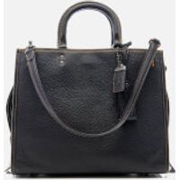 Coach 1941 Womens Glovetanned Pebble Leather Rogue Bag - Black