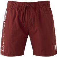 Crosshatch Mens Jennis Logo Swim Shorts - Pomegranate Red - XL - Red